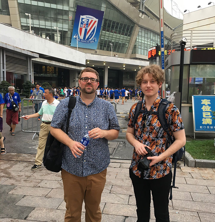 Mike and Ed in Shanghai